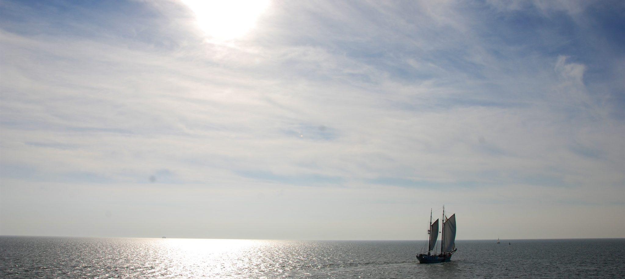 wedstrijd zeilen Race of the Classics Rotterdam op zeilschip Meander